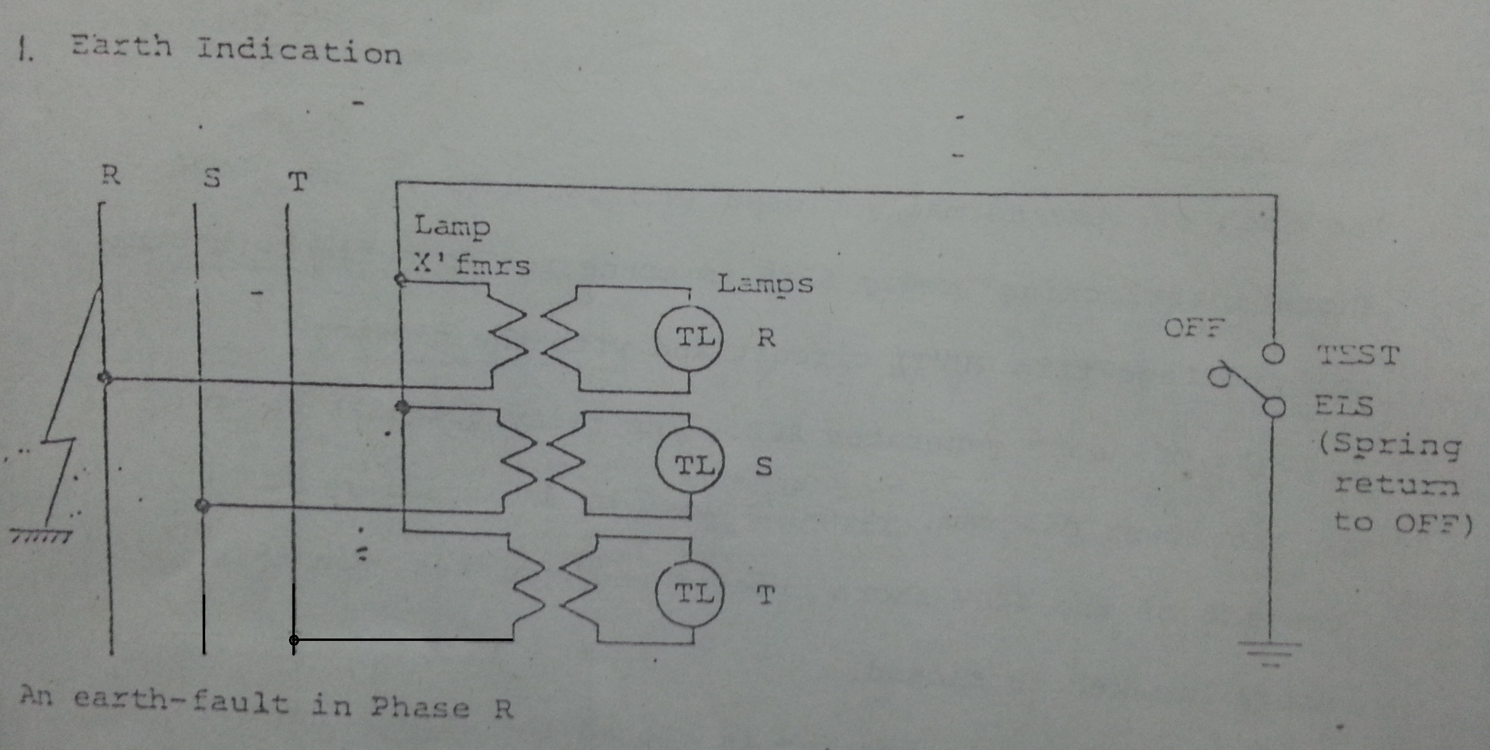 Earth Fault Indicator Circuit In Ships