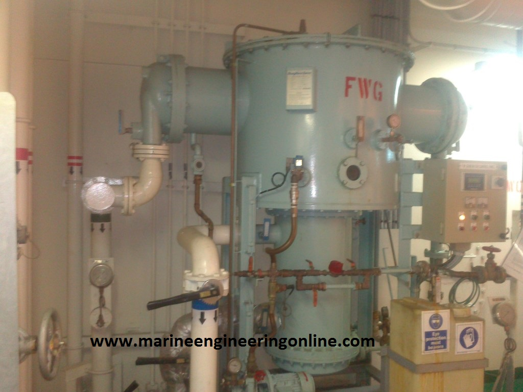 Fresh Water Generator Or Evaporator Alfa Laval Type on steam generator diagram