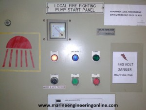 water mist fire fighting system testing