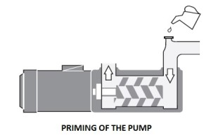 priming of screw pump